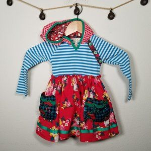 Matilda Jane A Merry Day Dress Mixed Fabric Size 2